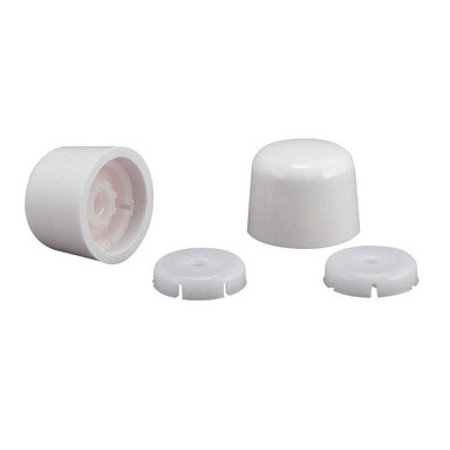 TOILET BOLT CAPS WHITE