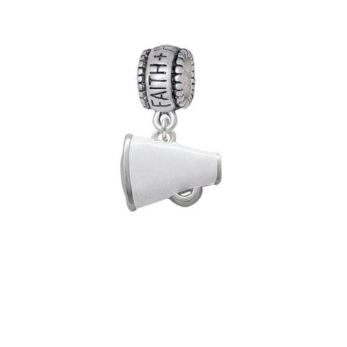 Small White Megaphone - Faith Hope Love Charm Bead