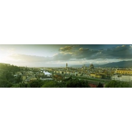 High angle view of a city from Piazzale Michelangelo Florence Tuscany Italy Poster Print](Party City Florence)