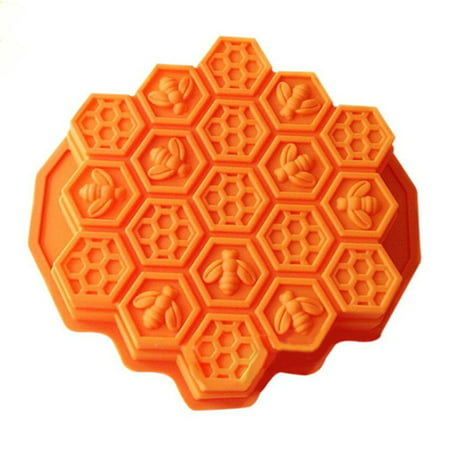 Tuscom Bee Honeycomb Cake Mold Mould Soap Mold Silicone Flexible Chocolate Mold