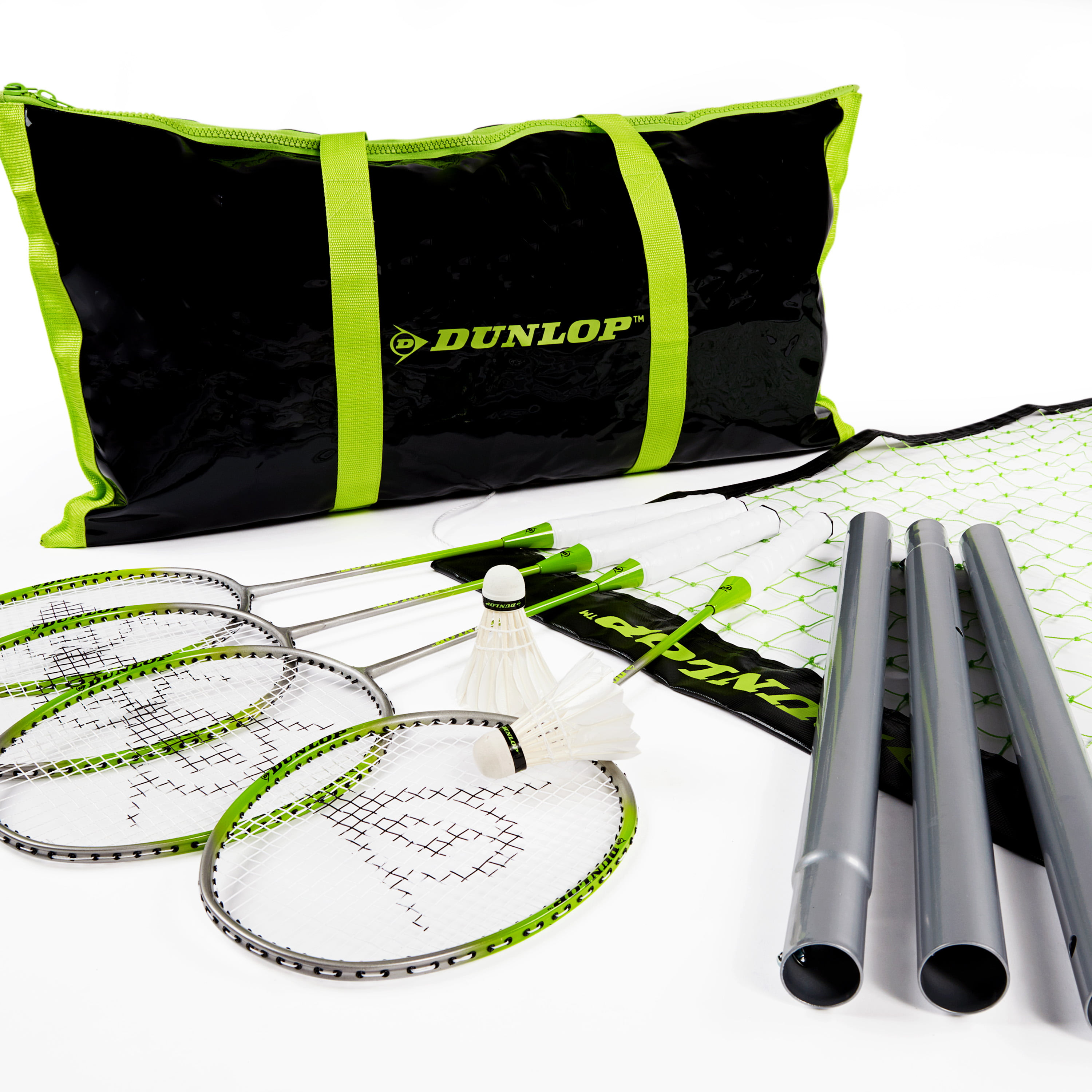 Dunlop Badminton Outdoor Lawn Game: Classic Backyard Party Sports Set with Carrying Bag by MD Sports