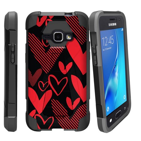 Case for Samsung Galaxy J1 2016 Version | Express 3 Hybrid Case [ Shock Fusion ] Hybrid Layers and Kickstand Case Fun Patterns