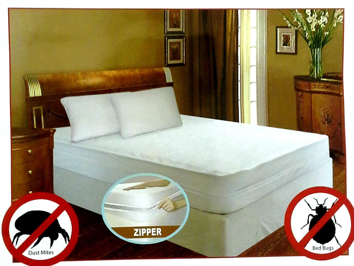 Royal Bed Bug 100% Hypoallergenic Mattress Cover With Zipper Enclosure -SOFT QUIET &... by