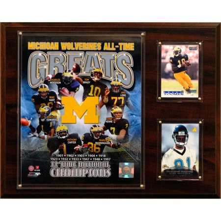 C&I Collectables NCAA Football 12x15 Michigan Wolverines All-Time Greats Photo Plaque
