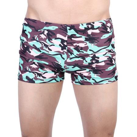 SAYFUT - SAYFUT Men's Plus Size Swim Trunk Lycra Rapid Splice Jammer  Swimsuit Swim Short Men Boxer Briefs Swimming Pants Swimwear  Black/Grey/Blue -