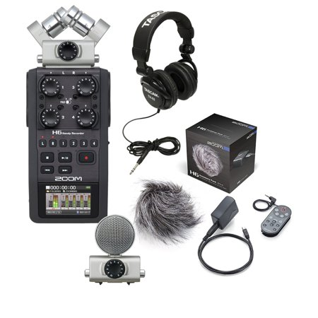 Zoom H6 Digital Recorder w/ APH-6 Accessory Package & TASCAM Foldable  Headphones