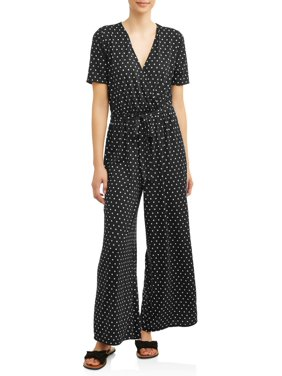 ef1b8daebe1 Product Image Women s Surplice Wide Leg Jumpsuit