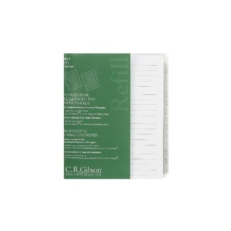 c r gibson address book refill pages with tab index dividers z211