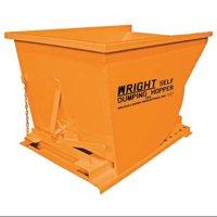 ZORO SELECT 7577 ORANGE Self Dumping Hopper,5000 lb.,Orange