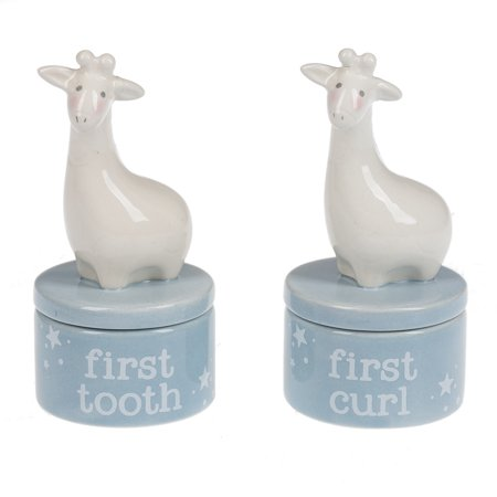 Giraffe First Curl & First Tooth Keepsake Box set/2