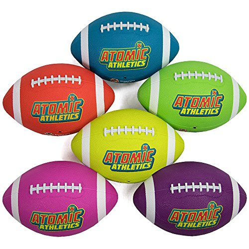 K-Roo Sports Atomic Athletics Neon Rubber Playground Footballs, Regulation Size
