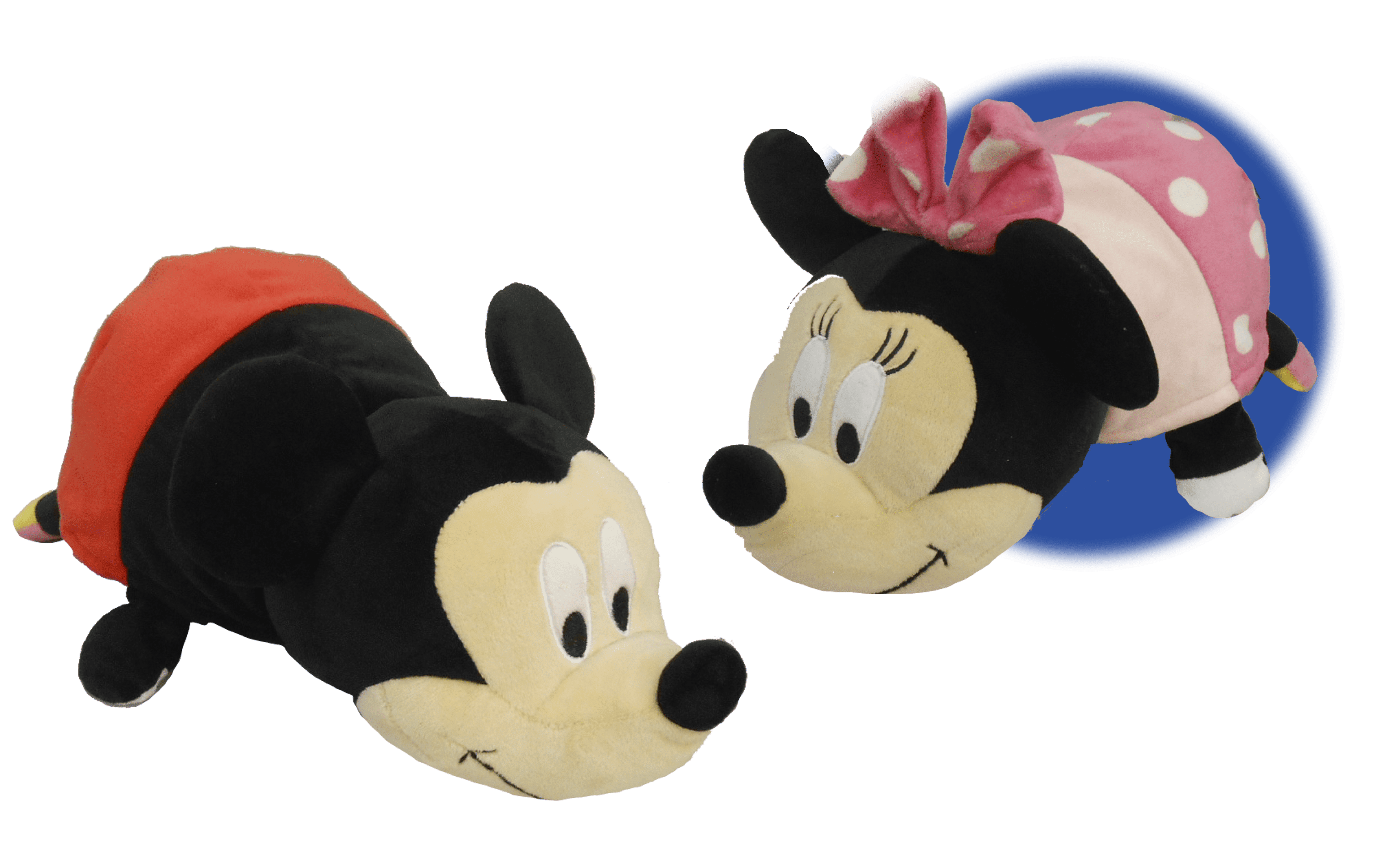 "14"" Disney Mickey Mouse to Minnie Mouse FlipaZoo 2 in 1 Plush by Jay at Play Int'l HK Ltd."