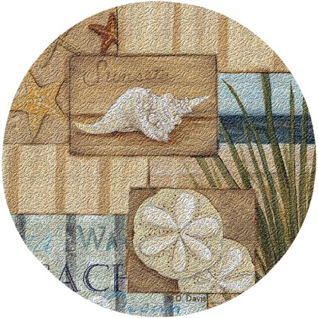 Thirstystone Cork Drink Coasters Set, At the Beach II by