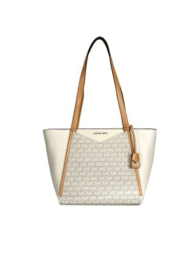 c72df7f6956dc4 Product Image Michael Kors Whitney Small Leather Tote- Natural/Butternut