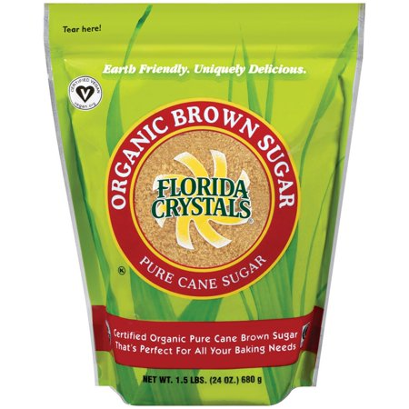 Florida Crystals Organic Sugar, Brown, 24 OZ (Pack of 6)