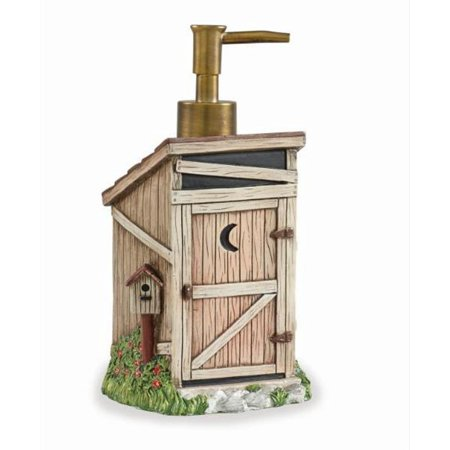Outhouse Resin Soap Lotion Dispenser Country Rustic Bath Decor Country Bath Four Port