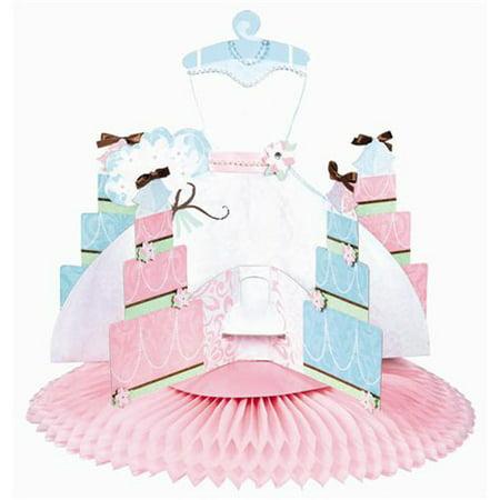 Boy Honeycomb Centerpiece - Bridal Shower 'Blushing Bride' Deluxe Honeycomb Centerpiece (1ct)