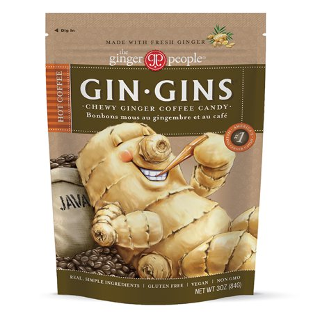 Gin Gins, Hot Coffee Chewy Ginger Candy, 3 Oz