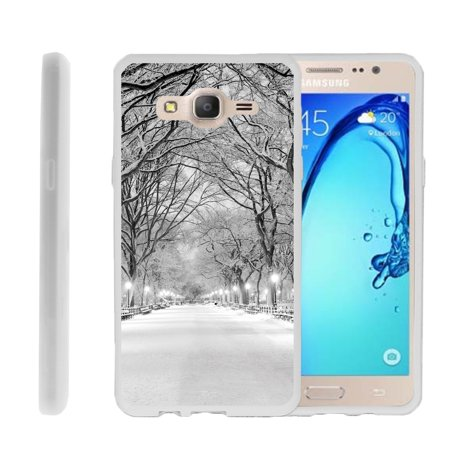 Samsung Galaxy On5 G550, Flexible Case [FLEX FORCE] Slim Durable  Sleek Bumper with Unique Designs - Winter