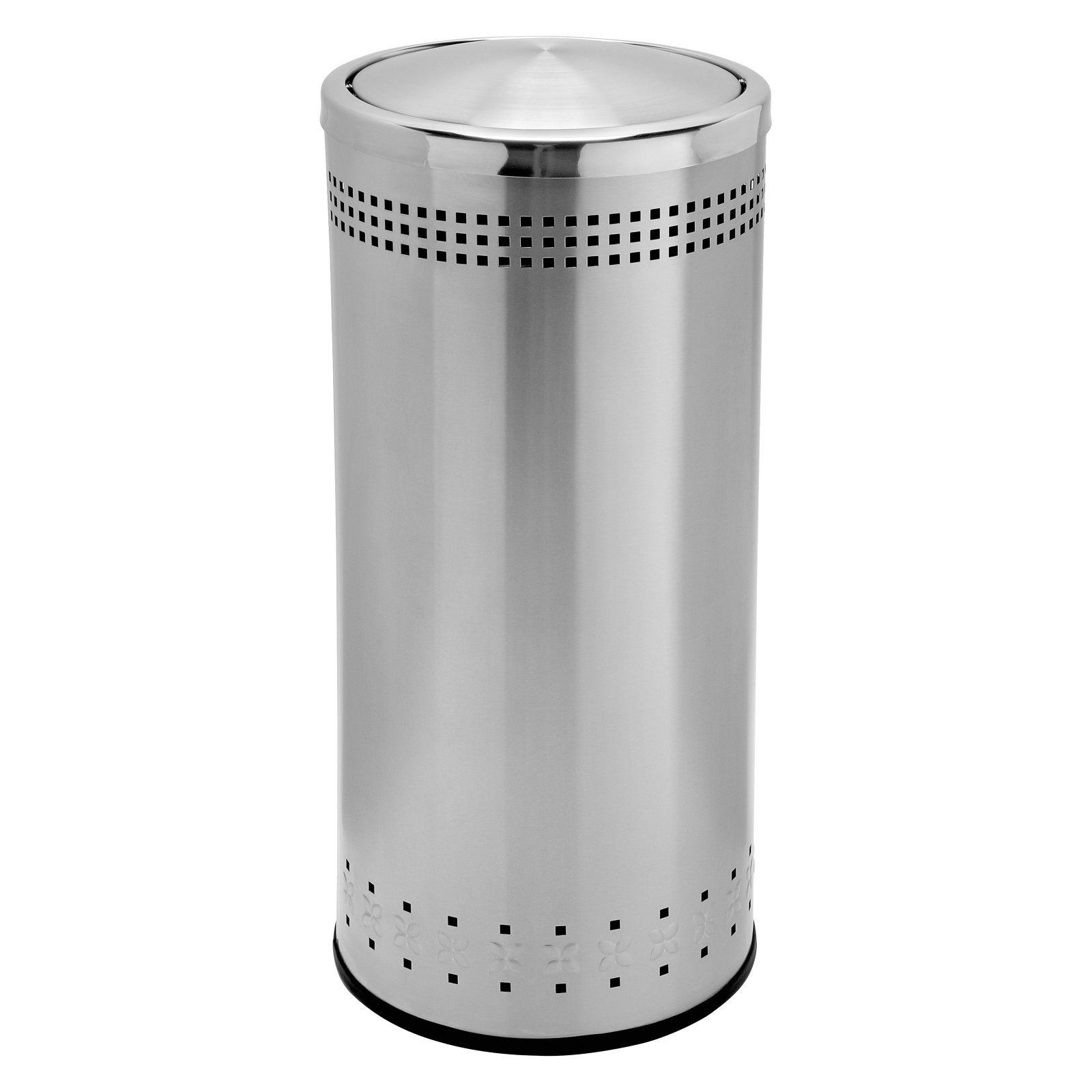 Commercial Zone 15 Gallon Swivel Lid Trash Can - Stainless Steel