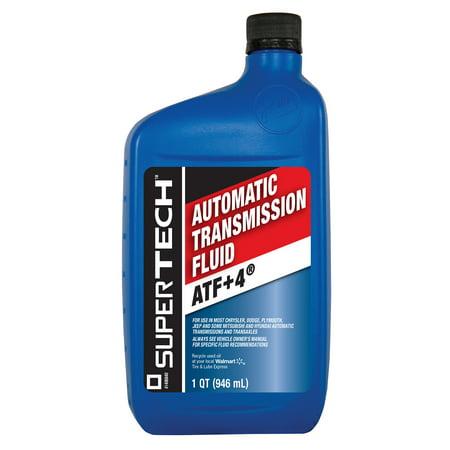 Super Tech Atf Plus 4 Automatic Transmission Fluid 1 Qt Walmart
