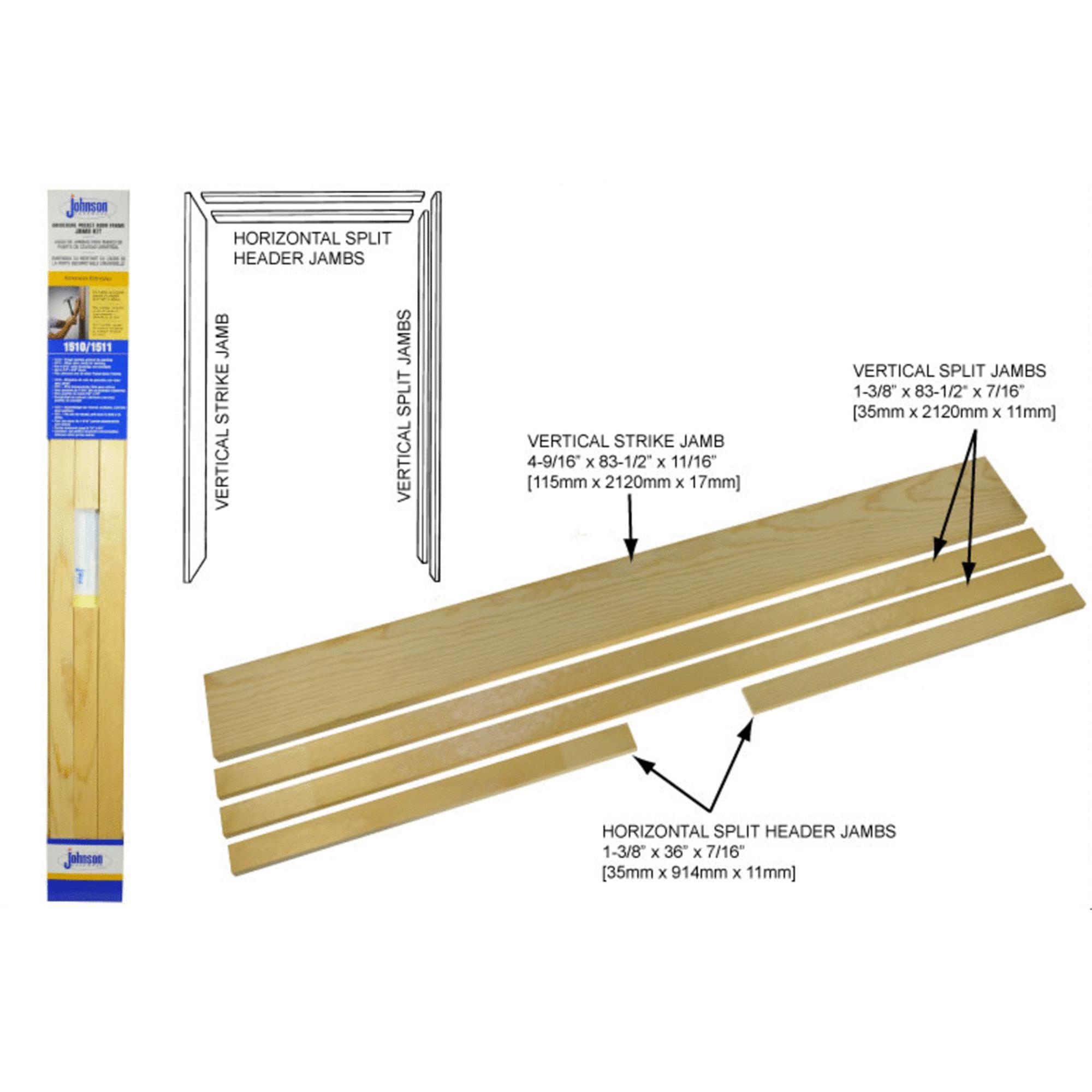 Johnson Hardware Pocket Door Frame Jamb Kit
