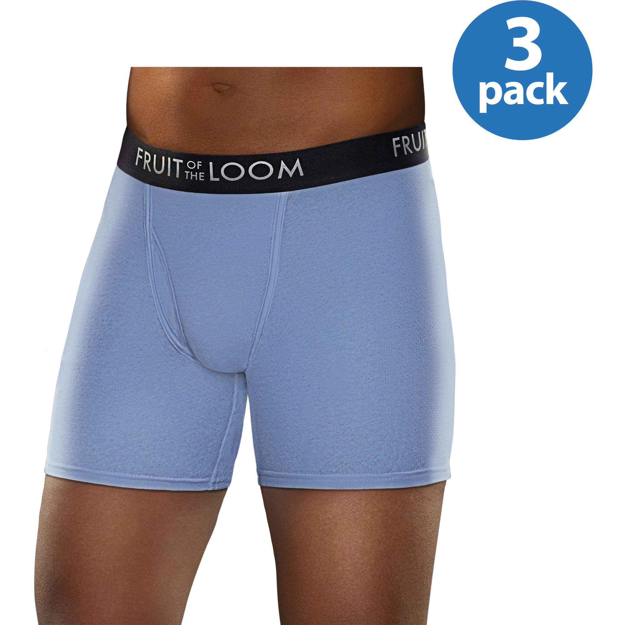 Fruit of the Loom Men's Breathable Assorted Color Boxer Brief, 3 Pack
