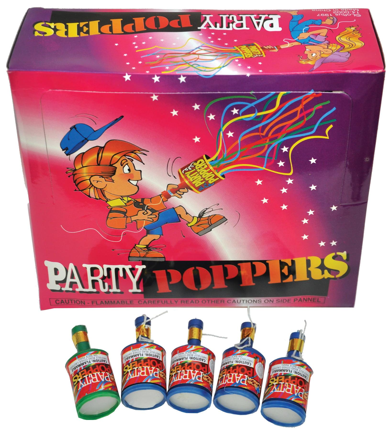 PARTY POPPER PKG OF 72 - Walmart.com - Walmart.com