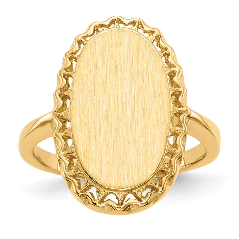 ICE CARATS 14kt Yellow Gold Signet Band Ring Size 6.00 Fine Jewelry Ideal Gifts For Women Gift Set From Heart by IceCarats Designer Jewelry Gift USA