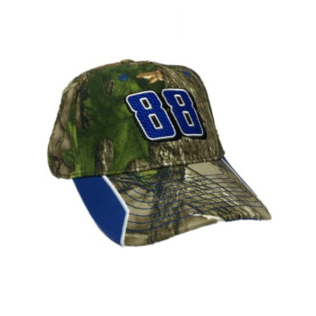 (Nascar Racing Mens Dale Earnhardt Jr #88 Green Camo Baseball Cap Hat Camouflage)