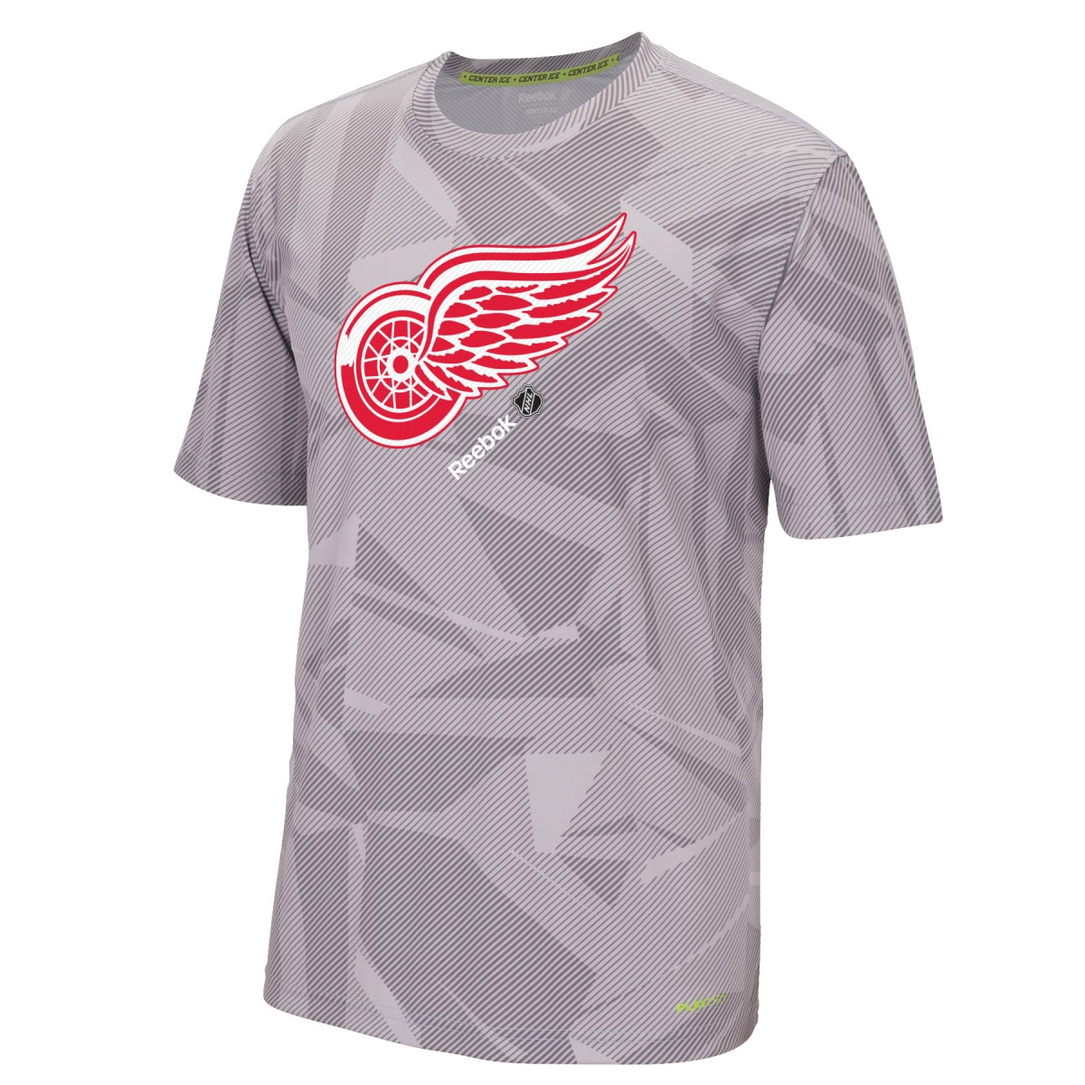 "Detroit Red Wings Reebok NHL 2015 Center Ice ""TNT"" S/S Performance Shirt"