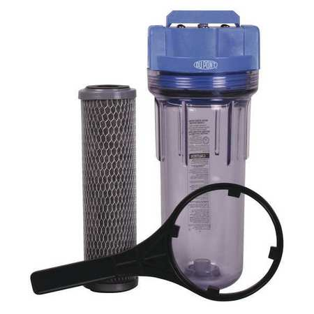 Water Filter System,Blue/Clr,5 gpm DUPONT WFPF38001C