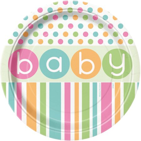 - Pastel Baby Shower Plates, 9 in, 8ct