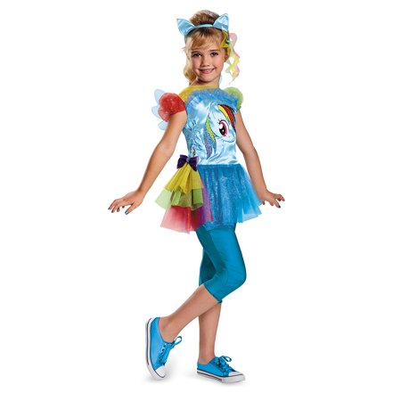 Child Rainbow Dash My Little Pony Costume by Disguise 74766 - Rainbow Girl Halloween Costume