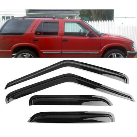 - All American Auto Dark Smoke Acrylic Side Window Deflector/Visor 4-Piece Set for 1995-2005 Chevy S10 Blazer 4 Door & 1998-2001 GMC S15 Jimmy 4 Door & 1996-2001 Oldsmobile Bravada