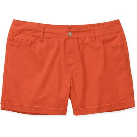 fe9cae84ad Faded Glory - Faded Glory Women's Plus-Size Frayed Denim Shorts ...