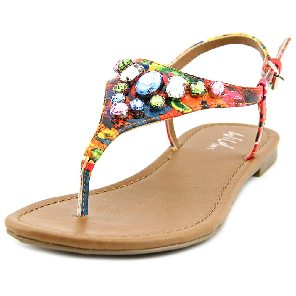 Wild Pair Frazier Women  Open-Toe Synthetic Multi Color Slingback Sandal