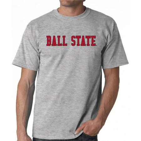 J2 Sport Ball State Cardinals NCAA Block Grey Unisex T-shirt Cardinals Ncaa Logo Tailgate