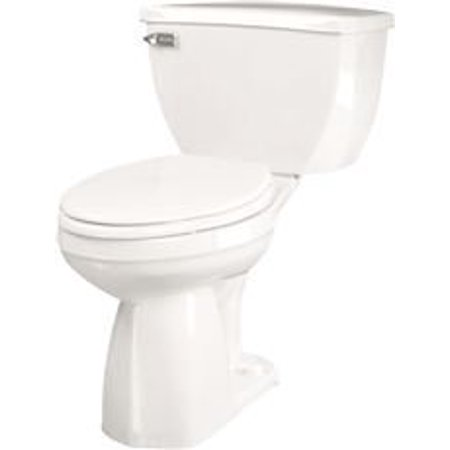 GERBER ULTRA FLUSH WATERSENSE ELONGATED TOILET BOWL, WHITE, 1.6 GPF