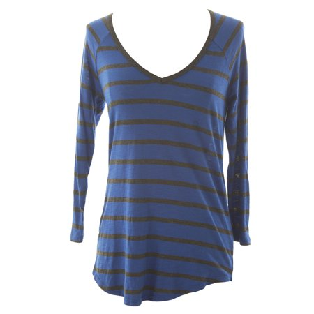 VELVET by Graham & Spencer Women's Striped 3/4 Sleeve V-Neck Tee ()