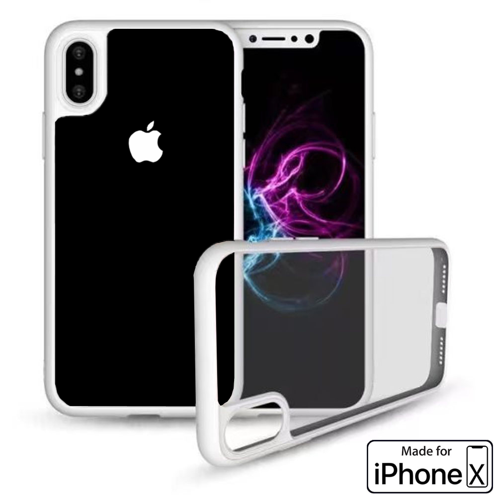 Apple iPhone X Case Crystal Clear Protector Shockproof Soft Cover (White) - image 1 de 3