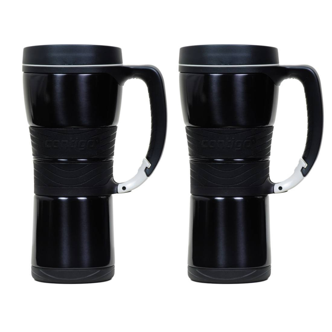 16oz Ignite USA Contigo EXD110A02 Extreme Vacuum Insulated Stainless Steel Travel Mug with Handle Black 16 oz