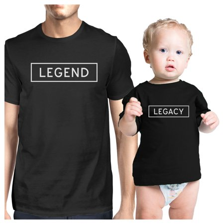 Legend Legacy Dad Baby Couple T Shirts Funny Gift For Baby Shower