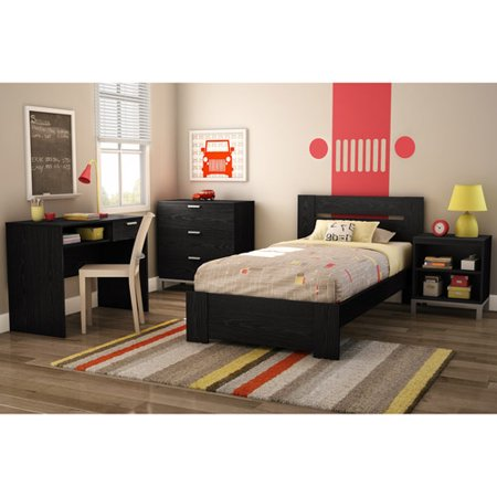 south shore black oak flexible bedroom furniture value bundle