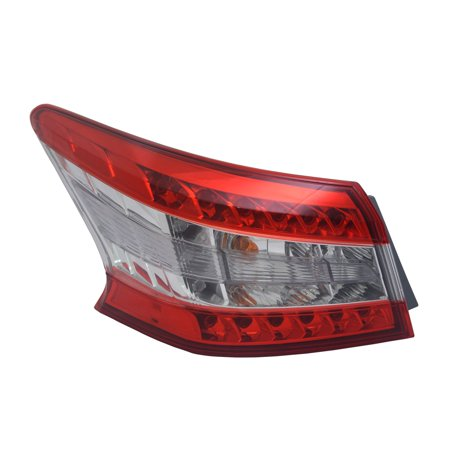 TYC 11-6550-00-1 Left Side Tail Light Assembly for 13-15 Nissan Sentra (Nissan Sentra Tail Lamp)