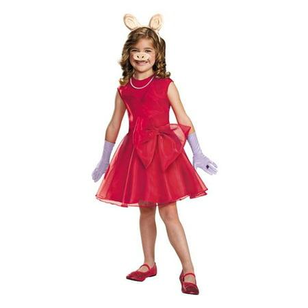 Morris Costumes DG88647L Miss Piggy Classic Child Costume, Size 4-6](Pingu Halloween)