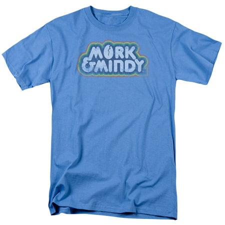 Mork & Mindy Robin Williams Vintage Style Logo 80s TV Show Adult T-Shirt Tee