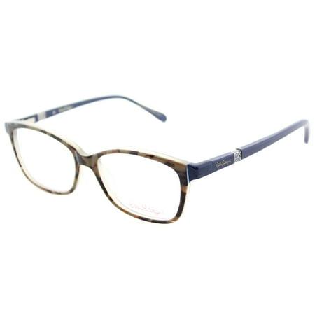 (Lilly Pulitzer BOHDIE Eyeglasses 50 Mocha Navy)