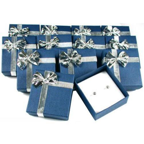 12 Earring Boxes Bowtie Gift Wrap Jewelry Displays