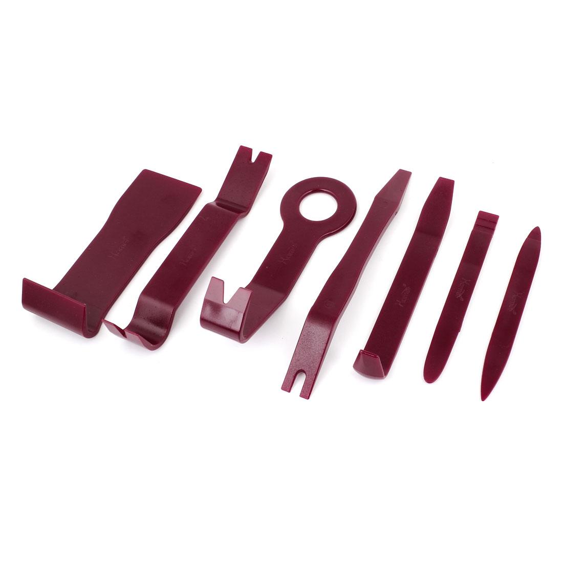 7 Pcs Red Audio Loudspeaker Repair Removal Dismantle Tools for Auto Car